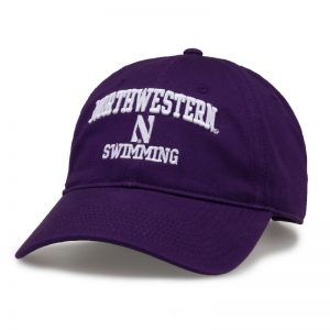 Northwestern University Wildcats Unconstructed Purple Cotton Twill Hat with Swimming Design