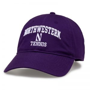 Northwestern University Wildcats Unconstructed Purple Cotton Twill Hat with Tennis Design