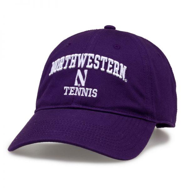 Northwestern University Wildcats Unconstructed Purple Cotton Twill Hat with Tennis Design