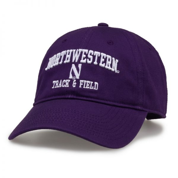 Northwestern University Wildcats Unconstructed Purple Cotton Twill Hat with Track & Field Design