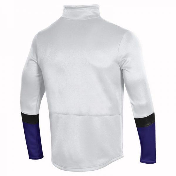 Northwestern University Wildcats Men's Under Armour White SLQZ Sideline 1/4 Zip With Stylized N Design-2