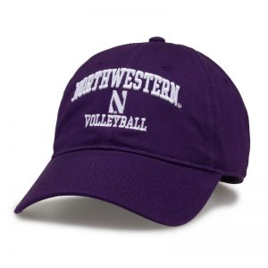Northwestern University Wildcats Unconstructed Purple Cotton Twill Hat with Volleyball Design
