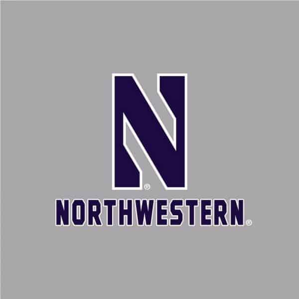 Northwestern University Wildcats Men's Under Armour Steel HD 1/4 Zip With Stylized N Design -2