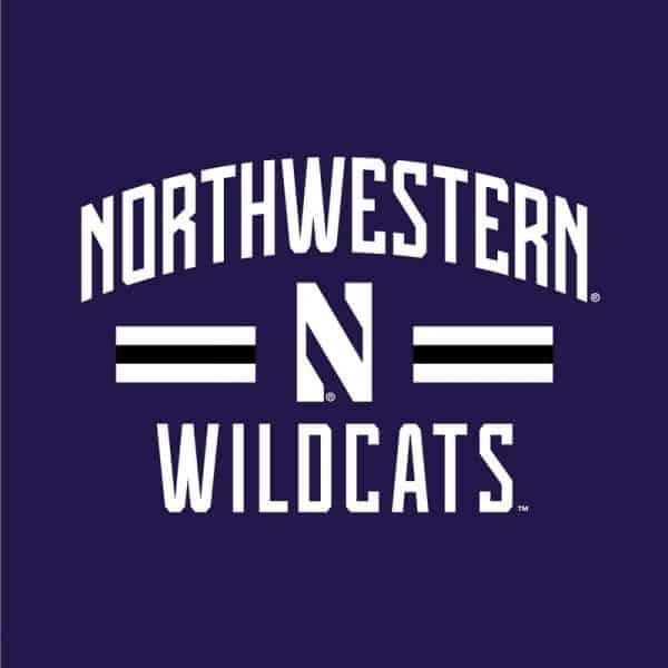 Northwestern University Wildcats Ladies Under Armour Purple / Grey Training Camp Tie Hood Tee Shirt-2
