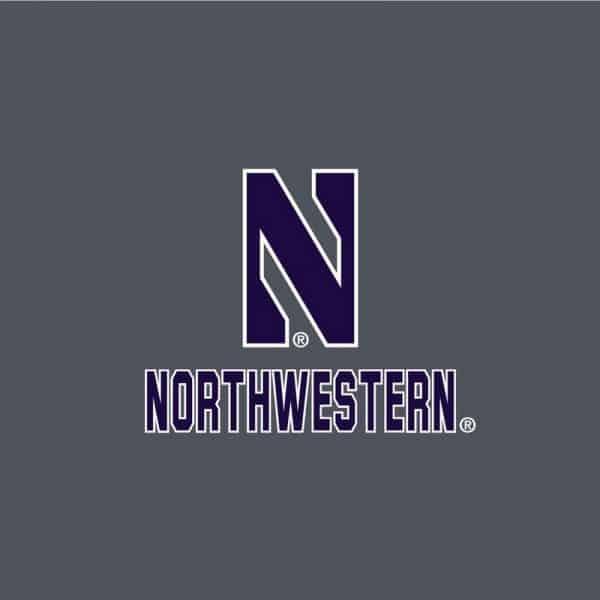 Northwestern University Wildcats Men's Under Armour Steel Novelty Vanish Seamless 1/4 Zip With Stylized N Design-2