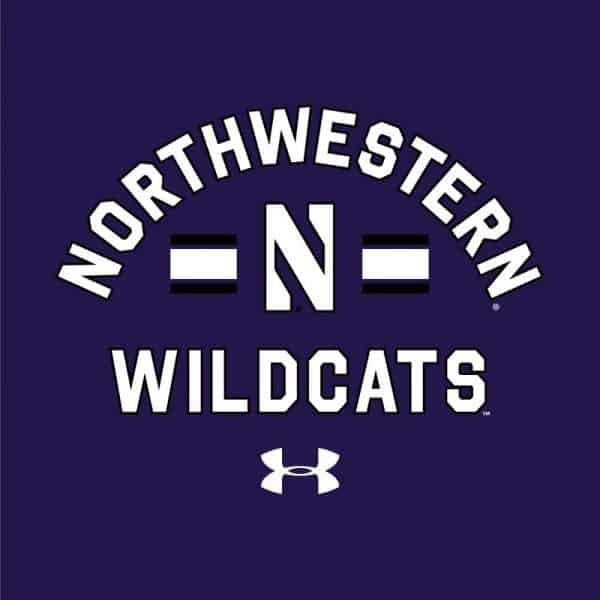 Northwestern University Wildcats Men's Under Armour Purple All Day Fleece Hood With Stylized N Design
