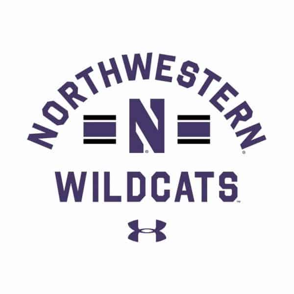 Northwestern University Wildcats Men's Under Armour White All Day Fleece Hood With Stylized N Design-2