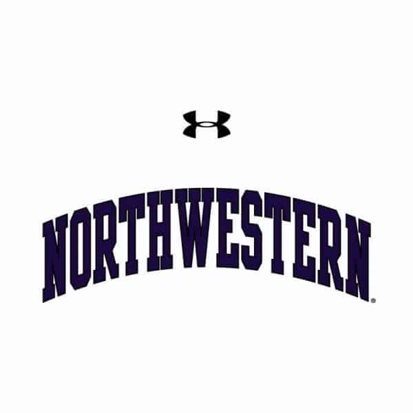 Northwestern University Wildcats Ladies Under Armour White Performance Cotton Short Sleeve Tee With Northwestern Arch Design-2