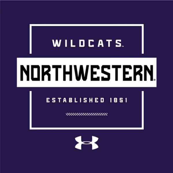 Northwestern University Wildcats Men's Under Armour Purple Tech Novelty Short Sleeve Tee -2