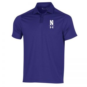 Northwestern University Wildcats Men's Under Armour Pinnacle Purple Sideline Polo shirt