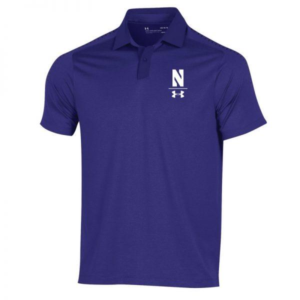 Northwestern University Wildcats Men's Under Armour Pinnacle Purple Sideline Polo shirt
