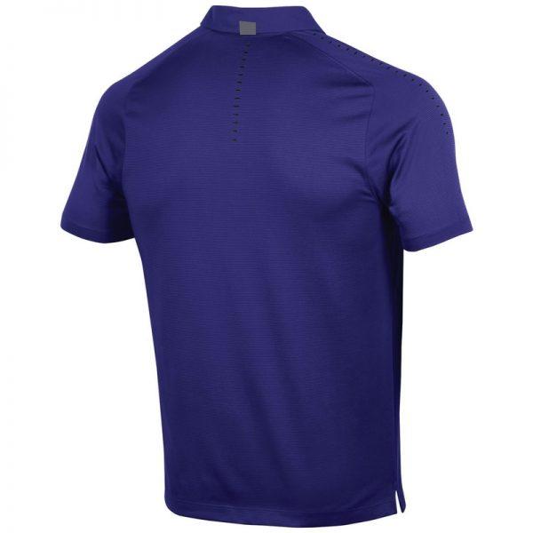 Northwestern University Wildcats Men's Under Armour Pinnacle Purple Sideline Polo shirt-2