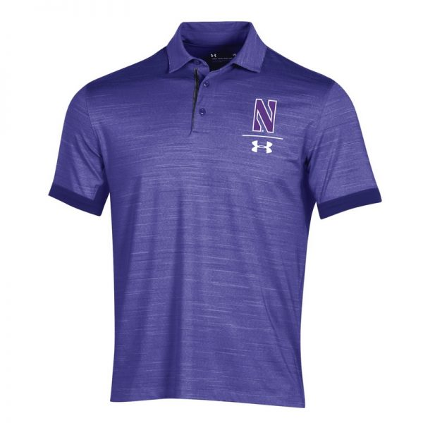 Northwestern University Wildcats Men's Under Armour Playoff Vented Purple Sideline Polo shirt