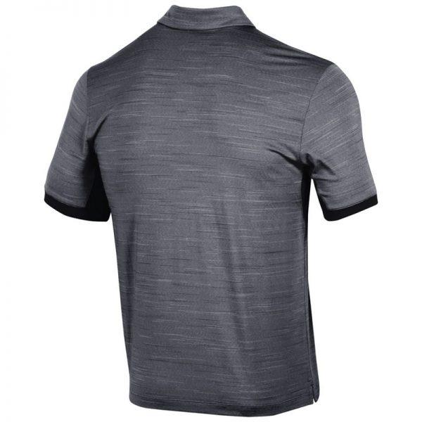 Northwestern University Wildcats Men's Under Armour Playoff Vented Black Sideline Polo shirt -2