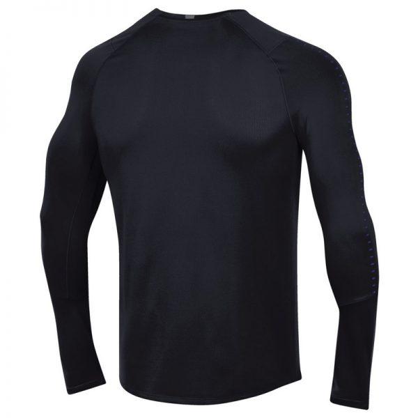 Northwestern University Wildcats Men's Under Armour Sideline Black Raid Long Sleeve Tee -2