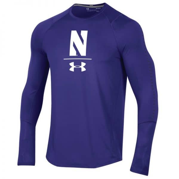 Northwestern University Wildcats Youth Under Armour Sideline Purple Raid Long Sleeve Tee