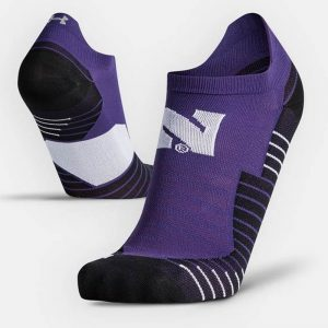 Northwestern University Wildcats Adult Under Armour Purple Run No Show Sock
