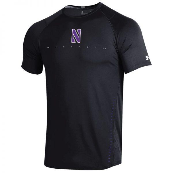 Northwestern University Wildcats Youth Under Armour Sideline Black Raid Short Sleeve Tee