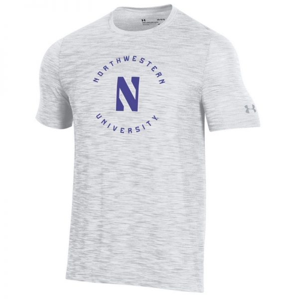 Northwestern University Wildcats Men's Under Armour Elemental Novelty Vanish Seamless Short Sleeve Tee