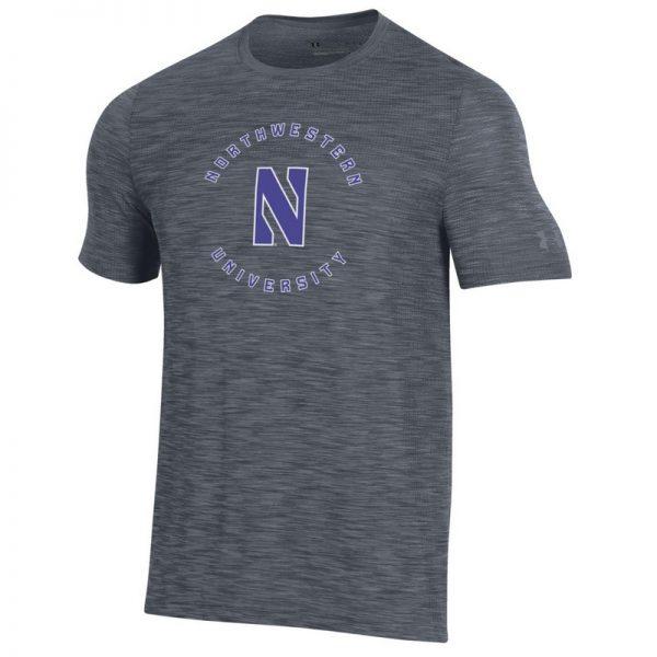 Northwestern University Wildcats Men's Under Armour Steel Novelty Vanish Seamless Short Sleeve Tee