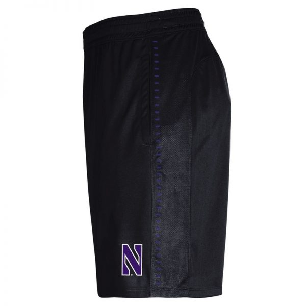 Northwestern University Wildcats Men's Under Armour Black Raid Short -2