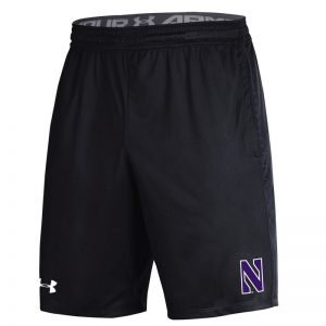 Northwestern University Wildcats Men's Under Armour Black Raid Short
