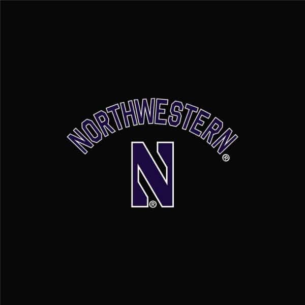 Northwestern University Wildcats Men's Under Armour Black Double Knit Jacquard Short -2
