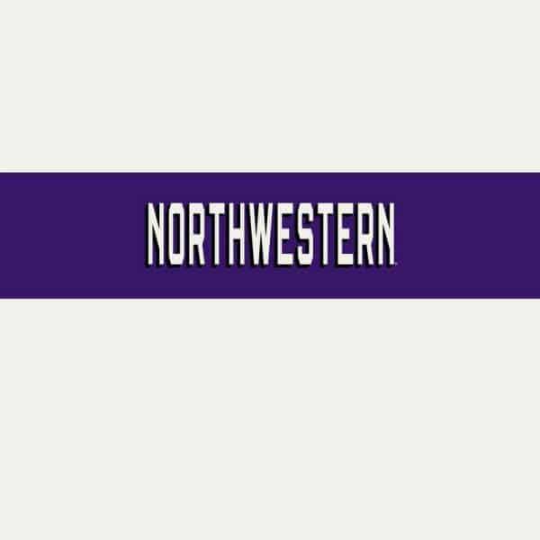 Northwestern University Wildcats Men's Under Armour White Bi-Blend Fade Short Sleeve Tee With Seam to Seam Northwestern Design-2