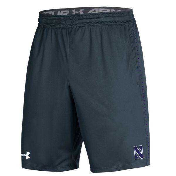 Northwestern University Wildcats Men's Under Armour Grey Raid Short