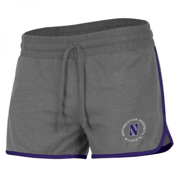 Northwestern University Wildcats Ladies Under Armour Grey Short with Purple Accent and Side Pockets