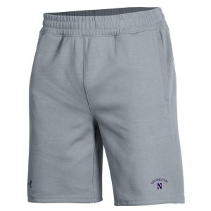 Northwestern University Wildcats Men's Under Armour Steel Double Knit Jacquard Short