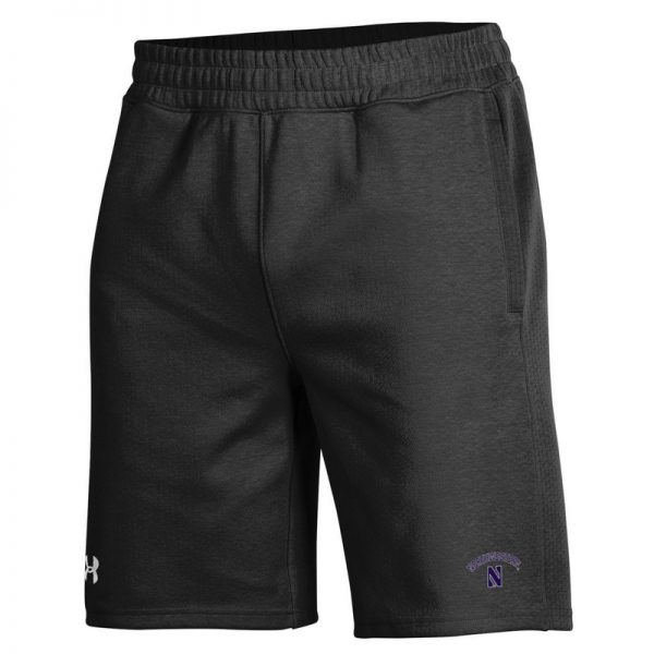 Northwestern University Wildcats Men's Under Armour Black Double Knit Jacquard Short