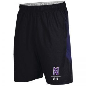 Northwestern University Wildcats Men's Under Armour Sideline Black Pinnacle Woven Short