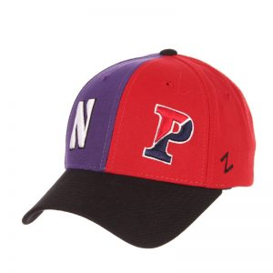 Northwestern University Wildcats House Divided Hat with University of Pennsylvania Quakers-Front left
