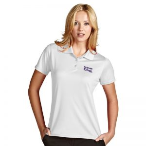 Northwestern / Kellogg Antigua Ladies White Polo Shirt
