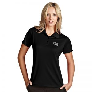 Northwestern / Kellogg Antigua Ladies Black Polo Shirt