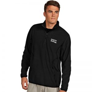 Northwestern / Kellogg Antigua Men's Black Ice 1/4-Zip Polar Fleece