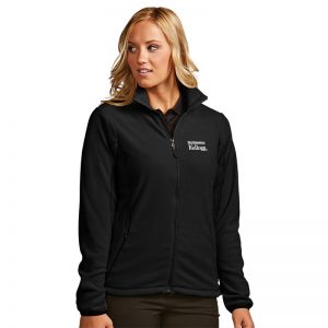 Northwestern / Kellogg Antigua Ladies Black Ice Full-Zip Polar Fleece