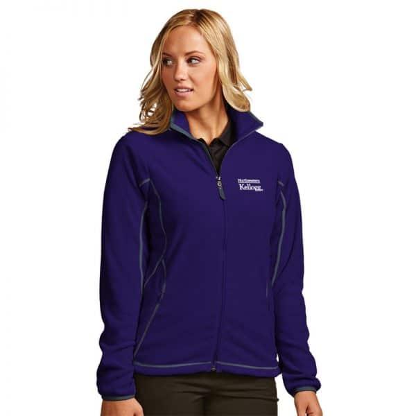 Northwestern / Kellogg Antigua Ladies Purple Ice Full-Zip Polar Fleece