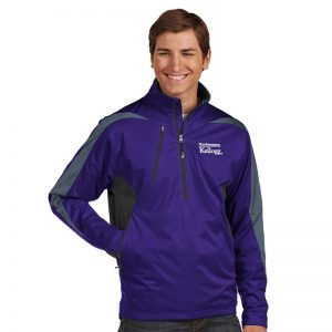 Northwestern Kellogg Men's Antigua Discover Light Weight Rain Jacket in Purple
