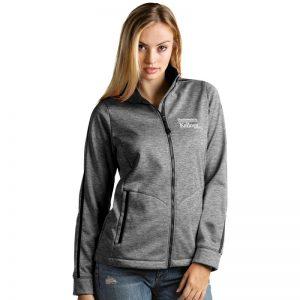 Northwestern / Kellogg Antigua Ladies Black Heather Golf Jacket