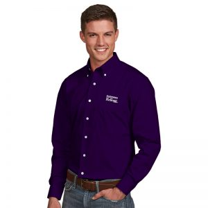 Northwestern / Kellogg Antigua Men's Purple Dress Shirt