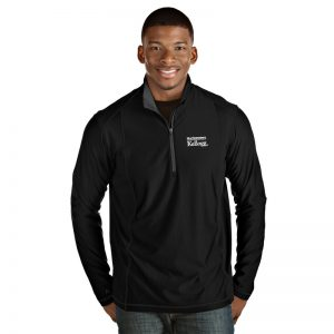Northwestern / Kellogg Antigua Men's Black Tempo 1/4 Zip