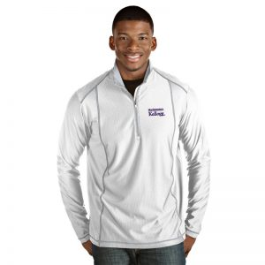 Northwestern / Kellogg Antigua Men's White Tempo 1/4 Zip