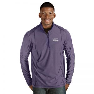Northwestern / Kellogg Antigua Men's Purple Tempo 1/4 Zip