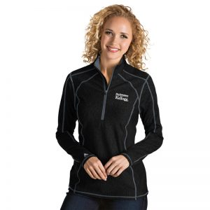 Northwestern / Kellogg Antigua Ladies Black Tempo 1/2 Zip