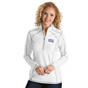 Northwestern / Kellogg Antigua Ladies White Tempo 1/2 Zip