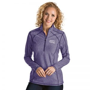 Northwestern / Kellogg Antigua Ladies Purple Tempo 1/2 Zip