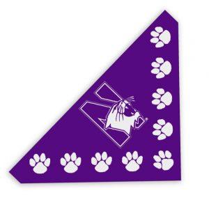 "Northwestern University Wildcats Pet Bandana 21""X21""X30"""
