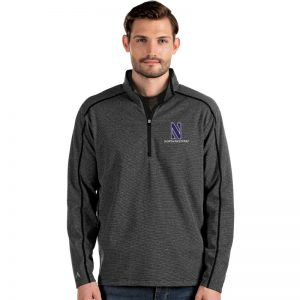Northwestern University Wildcats Antigua Men's Brawn Black 1/4 Zip